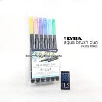 Lyra Aqua Brush Duo Pastel Tone Set 6 ( Brush Pen )