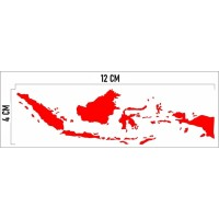 cutting Stiker sticker peta indonesia merah mobil sepeda motor helm