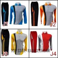 Setelan JN Kaos Trening Olahraga Lengan panjang fitness jogging