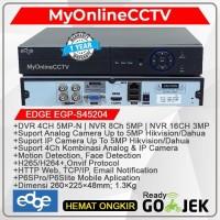Paket DVR NVR CCTV Edge 4CH Kamera Ultra Resolution Asli 4K