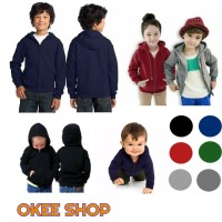 Jaket Hoodie Sweater Anak Bahan Katun Fleece Adem
