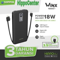 Hippo Power Bank WinX 10000 MAH Quick Charge 3.0 Power Delivery 18W