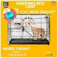 [KHUSUS GOJEK/GRAB] Kandang Kucing Tingkat JUMBO XL 80×52×50