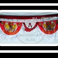 Bendera Backdrop Garuda merah putih 5 m kualitas bahan fillament