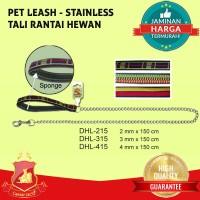 Tali Rantai Anjing Kucing Hewan - Pet Dog Cat Leash Besi Stainless