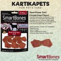 Smartbones beef 8mini/snack tulang anjing/snack dental/snack hewan
