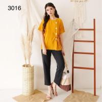 Blus Import Wanita Katun Tisu Korea / BLUS KOREA / ATASAN KOREA # 3016 - Merah, M