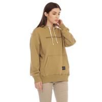 Cottonology Wanita Sweater Jaket Hoodie Niken Khaki