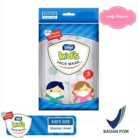 MASKER SENSI Masker Anak Kids Face Mask Headloop 3 Ply 3Ply isi 5 pcs