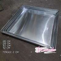 Loyang Oven / Loyang Kue Kering Alumunium 1 set 26 28 30 32 Tinggi 2cm