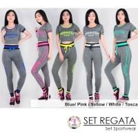 Setelan senam REGATA Set sport olahraga wanita Baju Senam Celana senam