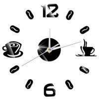 Jam Dinding DIY Giant Wall Clock Quartz 50-60cm Model Coffee Kopi