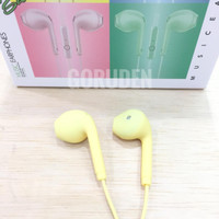 Handsfree Headset Earphone Stereo U19 Macaron Extra Bass