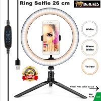 RingLight 26 For Live Streaming Vlogger Video LED Lampu Studio ICC