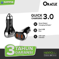 Hippo Oracle Car Charger Mobil Quick Charge 3.0 With LED Indicator