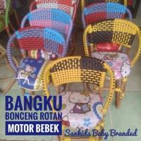 bangku Kursi bonceng motor bebek/ kursi rotan /kursi anak motor bebek