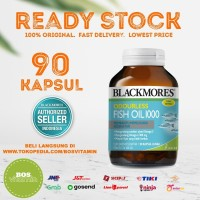 Blackmores Odourless Fish Oil 1000mg BPOM Kalbe - 90 kapsul