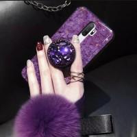 case glitter oppo a5 2020 softcase bling marmer foil emas