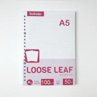 HVS Loose Leaf (RULED) Kertas Binder/ Isi Notes - (A5) 50 lbr