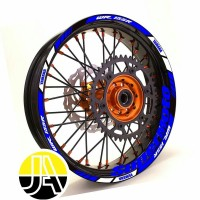 stiker list velg motor Yamaha WR155R Supermoto ring 17