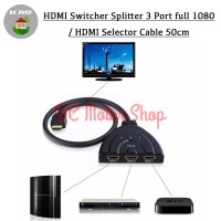 HDMI Switcher Splitter 3 Port full 1080p - HDMI Selector Cable 50cm