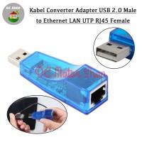 Kabel Converter Adapter USB 2.0 Male to Ethernet LAN UTP RJ45 Female