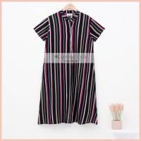 Lunaci Black Lines Home Dress