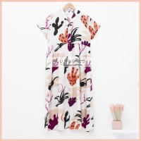 Lunaci White Calathea Maxi Dress