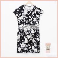 Lunaci Black Floral Breastfeeding Dress