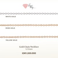 Rantai Kalung Emas (Rose Gold, White Gold, by BlingBling Jewellery