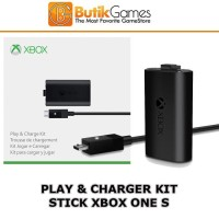 Baterai Battery Batre Stick Xbox One S Play and Charge Kit