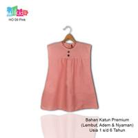 Ulikids Dress Anak Motif Ruffle Bahan Katun Premium Usia 1-6 Tahun