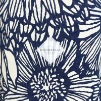 Kain kanvas Bunga Matahari Biru Navy Sunflower Canvas fabric flower
