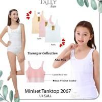 Singlet Tally 2067 Miniset Tank Top Busa Tipis Anak Cewek ABG PREMIUM
