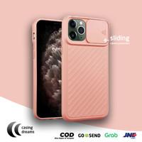 CASE IPHONE 11 PRO MAX / 11 / 11 PRO SLIDE CAMERA PROTECTOR - PEACH - Merah Muda