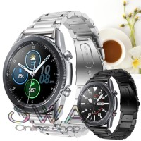 Samsung Galaxy Watch 3 45mm Stainless Steel Strap Tali Jam Rantai Band