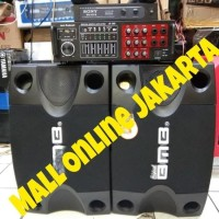 Paket karaoke sound system bmb 8 inch mic wireless bluetooth Murah