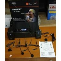 Mic SHURE GLXD 242 UHF Wireless Microphone ( Clip on + Headset ) Mura