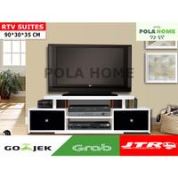Pola RTV Suites TV Cabinet Rak TV Minimalis GOJEK / GRAB ONLY - Putih
