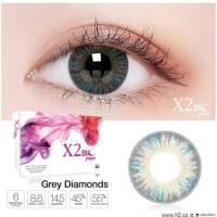 Softlens X2 BIO FOUR Premium Quality (Normal dan Minus) - Grey Diamond