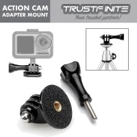 Action Cam Tripod Monopod Adapter Mount + Screw Thumb