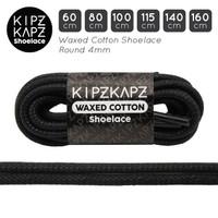 KipzKapz WS56 Black - Tali Sepatu Lilin / Waxed Cotton Round 4mm