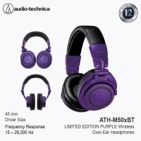 Audio-Technica ATH-M50XBT / M50X BT Wireless Over-Ear Headphone Purple