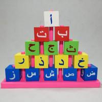 SALE!! Mainan Edukatif Edukasi Anak Balok Tower Hijaiyah 5 susun