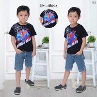 Kaos Anak Spiderman Lengan Pendek/T-Shirt Spiderman