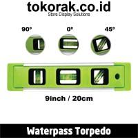 WATERPAS TORPEDO 9INC MAGNIT 02 NAKAI WATERPASS LASER MAGNET PENGGARIS