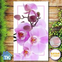 Hiasan Dinding Orchid Pink / Dekorasi Rumah / Hiasan Kamar Cafe