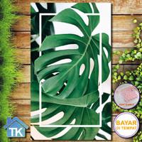 Hiasan Dinding Focus Monstera tropical / Dekorasi Rumah / Hiasan Kamar
