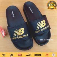 Sandal Slop Pria Flip Flop-Karet-Import-Hitam Gold