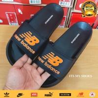 Sandal Slop Pria Flip Flop-Karet-Import-Hitam Orange